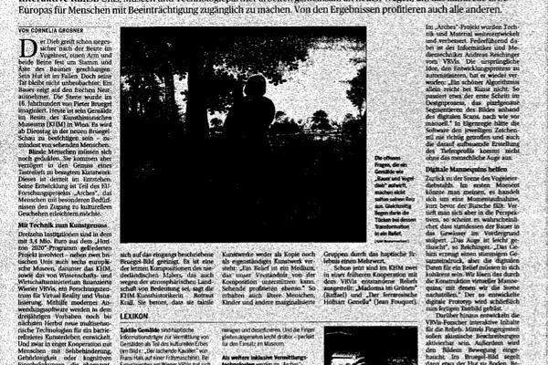 ARCHES Artikel, Die Presse