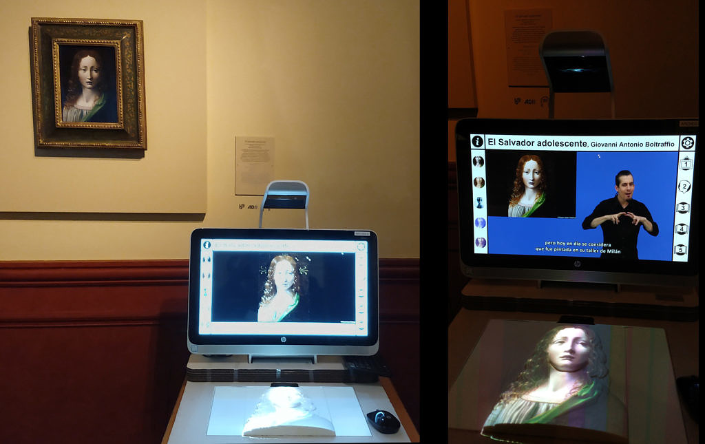 Multimedia Guide installed at Museo Lázaro Galdiano