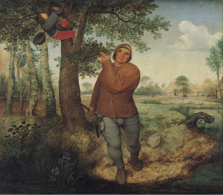 "The Peasant and the Nest Robber"", Pieter Bruegel the Elder, Painting, Oil on panel, 1568"
